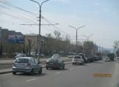 Красноярский рабочий, 113, после поворота на Затонскую, в сторону Предмостной пл. (Сторона Б)